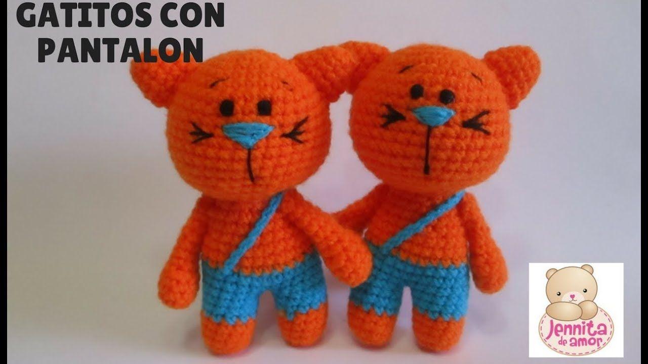 GATITOS CON PANTALON Tutorial | AMIGURUMIS ME ENCANTAN | Pinterest ...