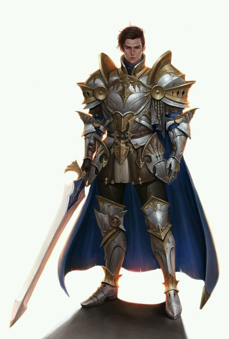 captain of the royale guard paladin great sword gold trimmed