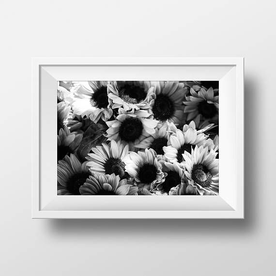 Sunflowers print for your home office or studio you can print at home