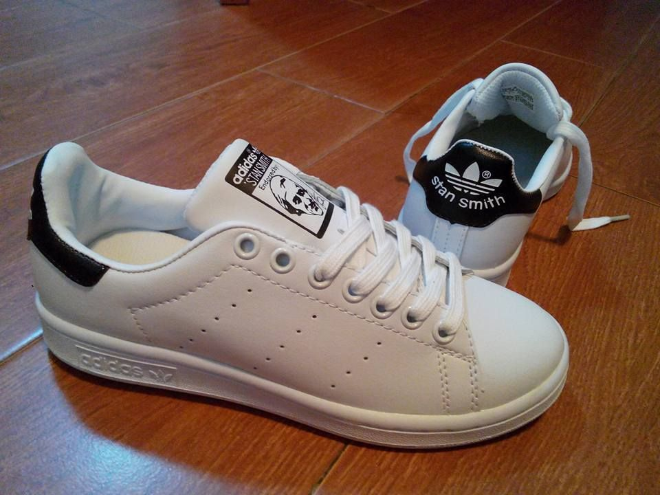 timeless design 74dea add7f Adidas Stan Smith | White/black tab | Available for men and ...