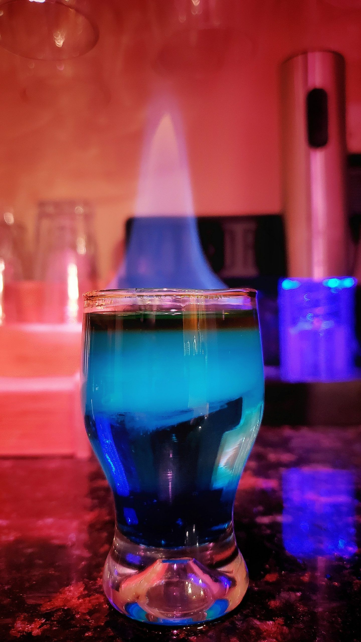 The Flaming Blue Shot