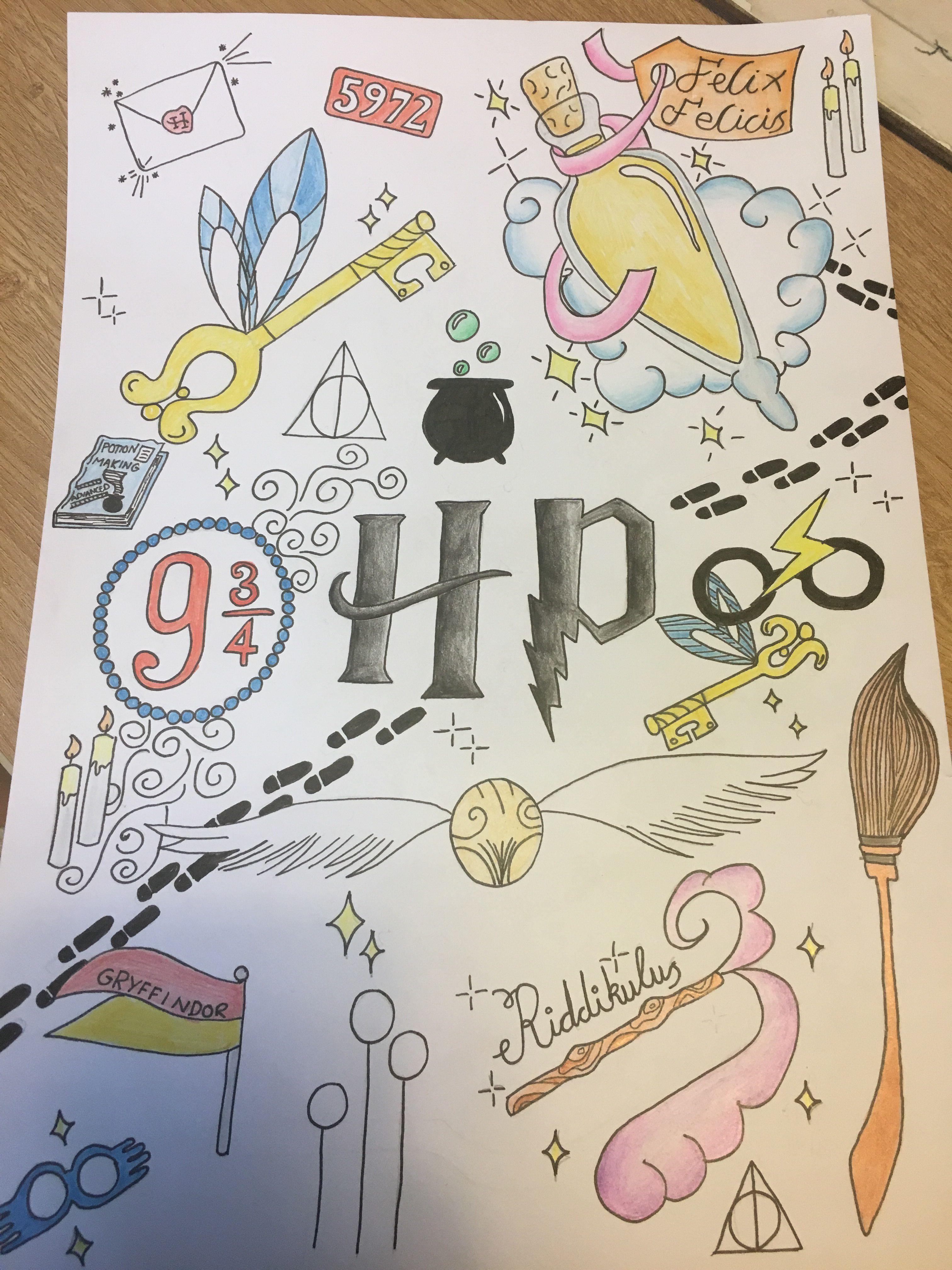 Harry Potter Doodles Planner Ideas In 2019 Ideen Fürs Zeichnen