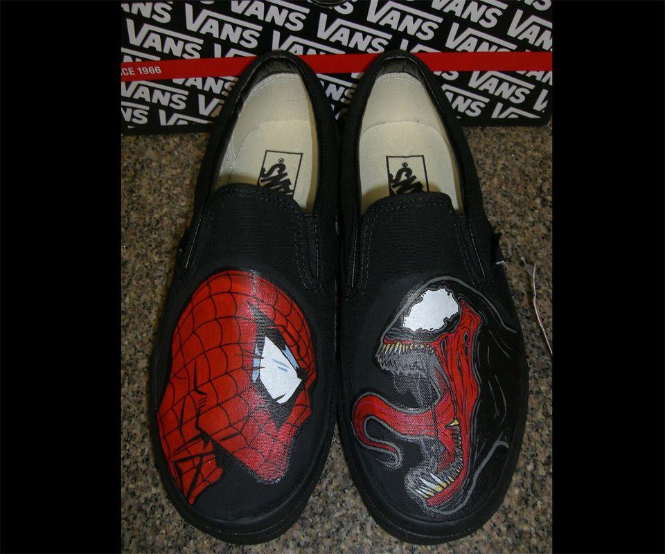 Spider-Man Vs. Venom Vans   Decorated