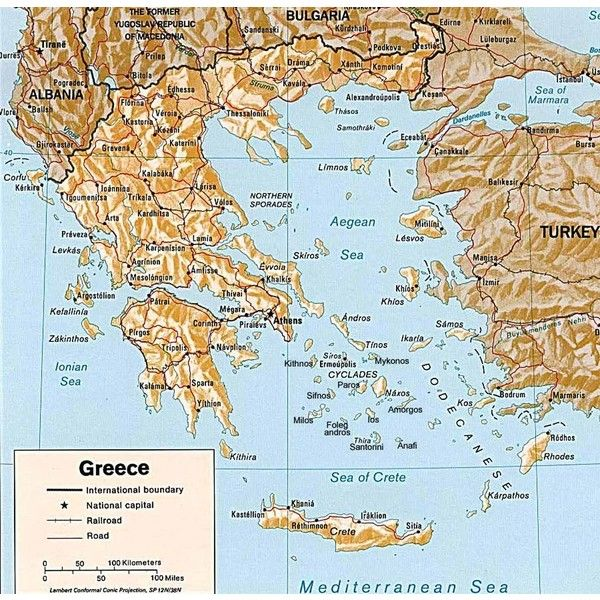 Greece-Map ❤ liked on Polyvore featuring greece and pictures