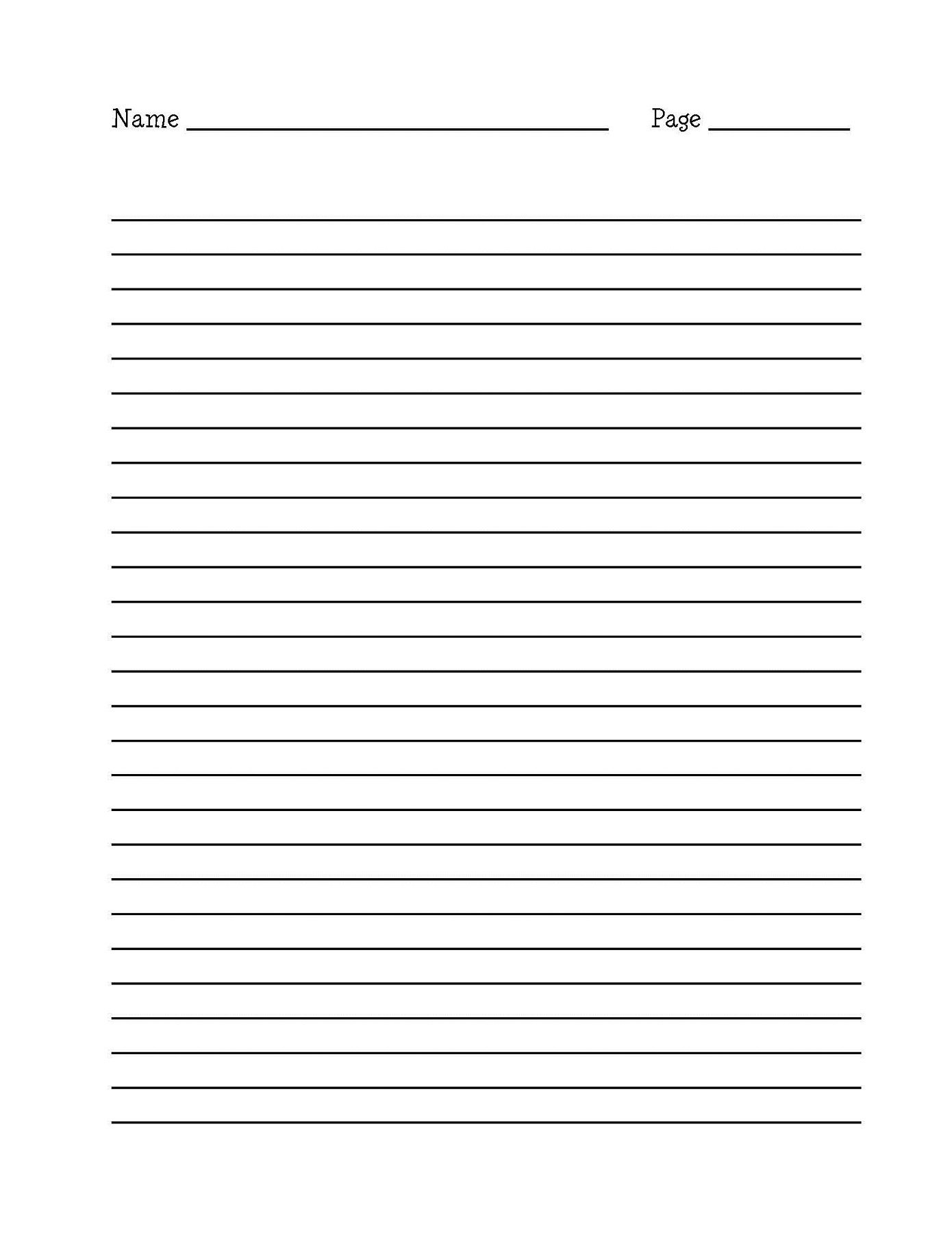 Lined Paper For Writing Activity Shelter – Lined Paper Template
