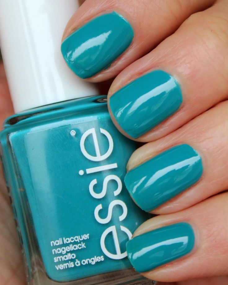 Garden Variety (A Teal Blue Orchid) | Essie | Pinterest | Green nail