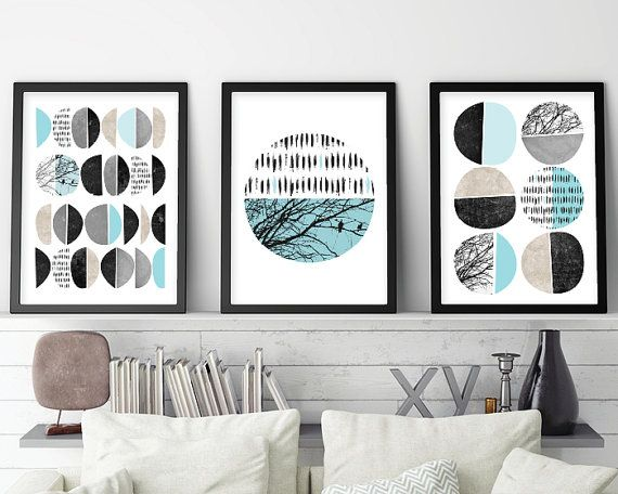 Set of 3 Prints Print Set Scandinavian by UrbanEpiphanyPrints