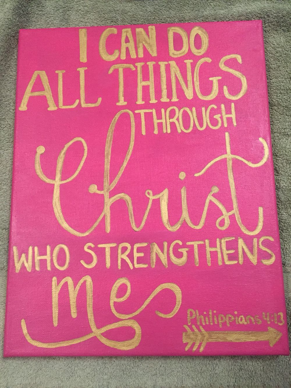 Canvas Painting I Can Do All Things Through Christ Who