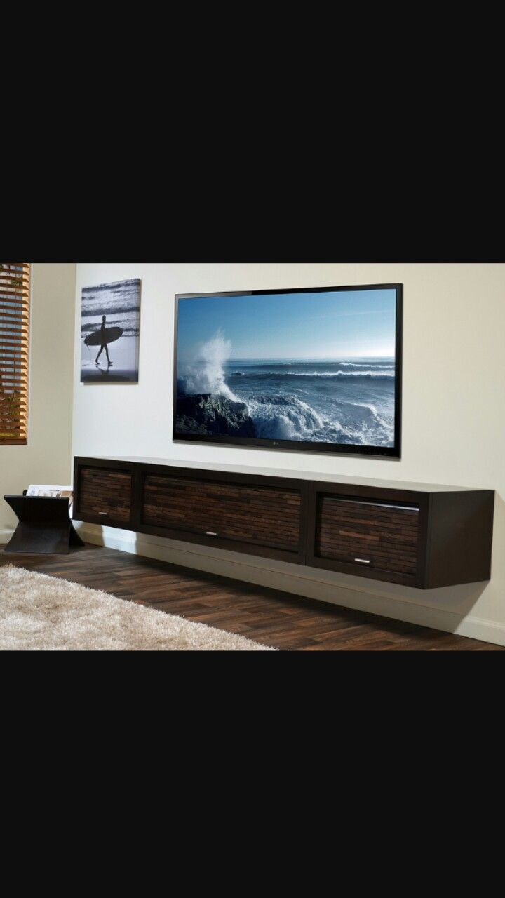 Fits great with 80 Inch TV. Huge floating shelf. | Wall Mount Types