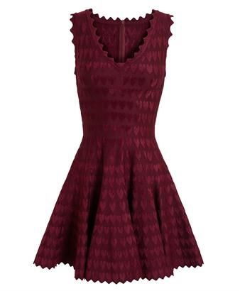 8d83c5822b6 AZZEDINE ALAÏA - Heart Motif Stretch-Knit Dress