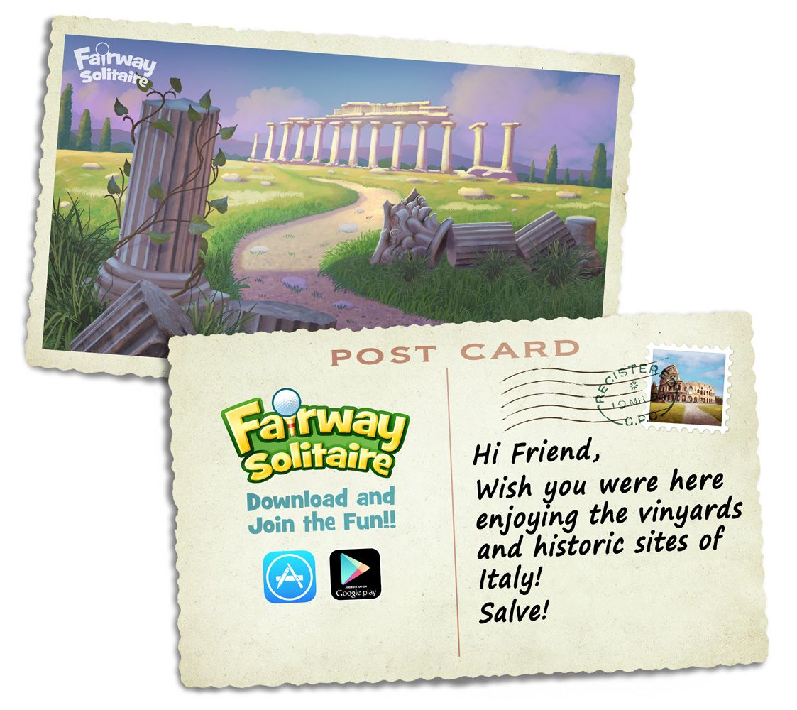 Wish you were here solitaire cards solitaire card game