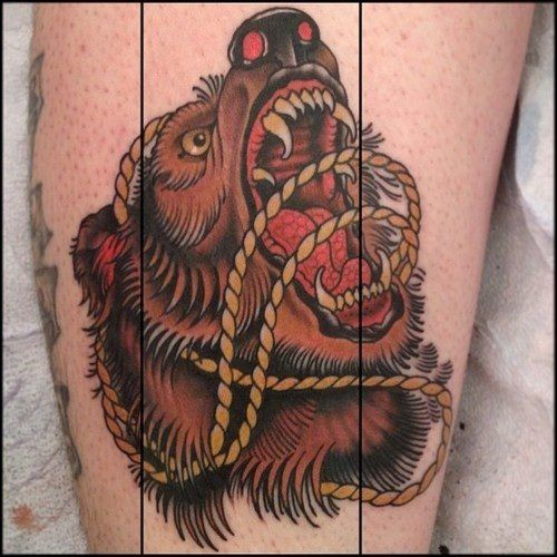 neo traditional bear tattoo - Google Search | work ...