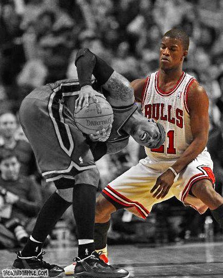 Jimmy Butler Puts Melo In Check Da Bulls Chicago Bulls Sports