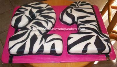 Coolest Zebra Striped Birthday Cake 21st birthday Birthday cakes