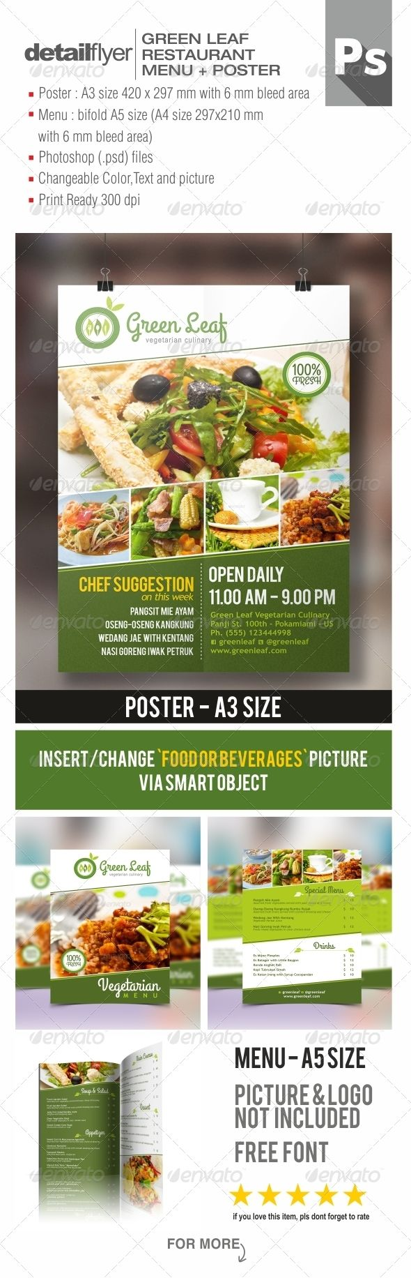 vegetarian restaurant menu poster pinterest psd templates