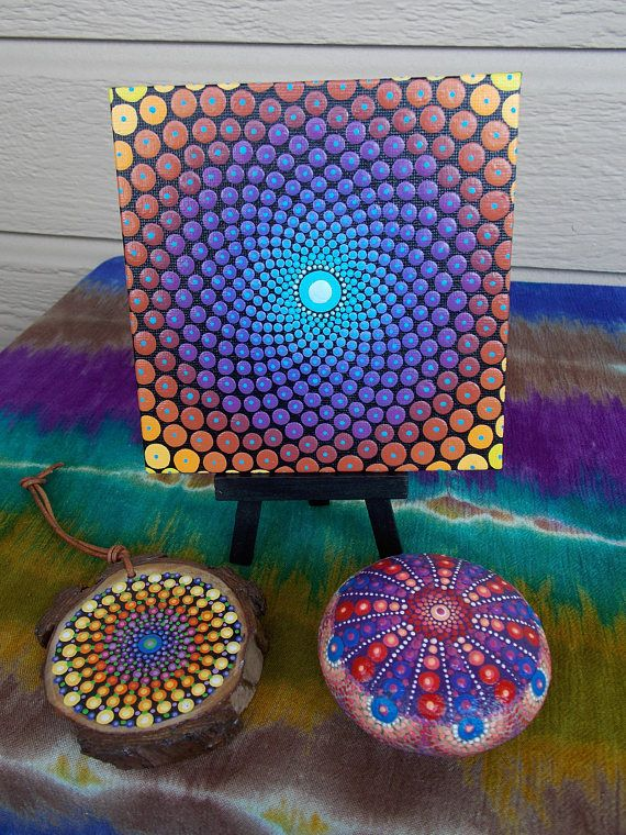 Sacred Geometry Mandala Dot Mandala Art by Kaila Lance