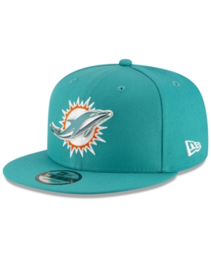 ded7b4f71fd New Era Miami Dolphins Metal Thread 9FIFTY Snapback Cap - Blue Adjustable