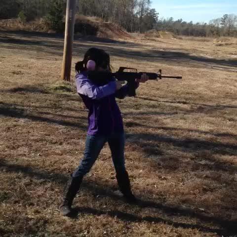 "Watch Kora Peters ™'s Vine ""I could always use more #practice! #MistressKora #gun #guns #shooting #gunsafety #safetyfirst #secondammendmentrights #america #selfdefense"""