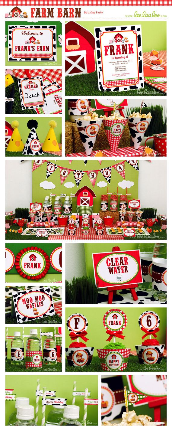 ♥ Farm Barn Birthday Party Theme ♥ Shop Here: https://www.etsy.com/shop/LeeLaaLoo/search?search_query=b112&order=date_desc&view_type=gallery&ref=shop_search ✿ Party Styling: LeeLaaLoo - www.leelaaloo.com ✿ Party Print able Design & Decoration: LeeLaaLoo - www.etsy.com/shop/leelaaloo