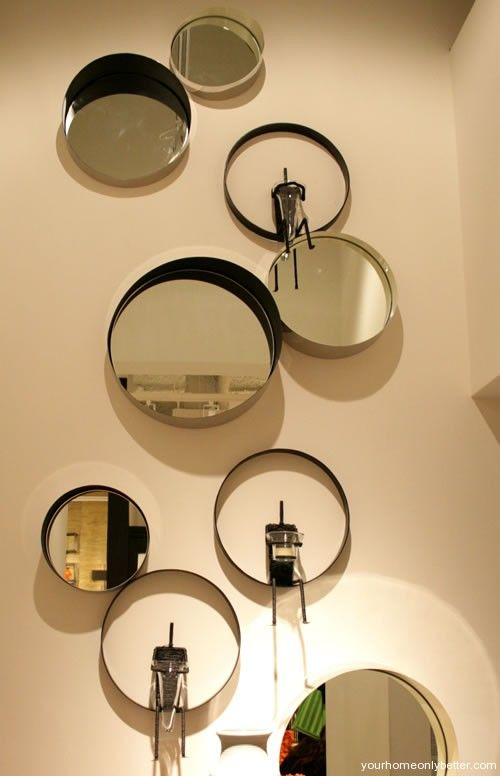man in the moon and conduit mirrors @Global Views | Wall Decor ...