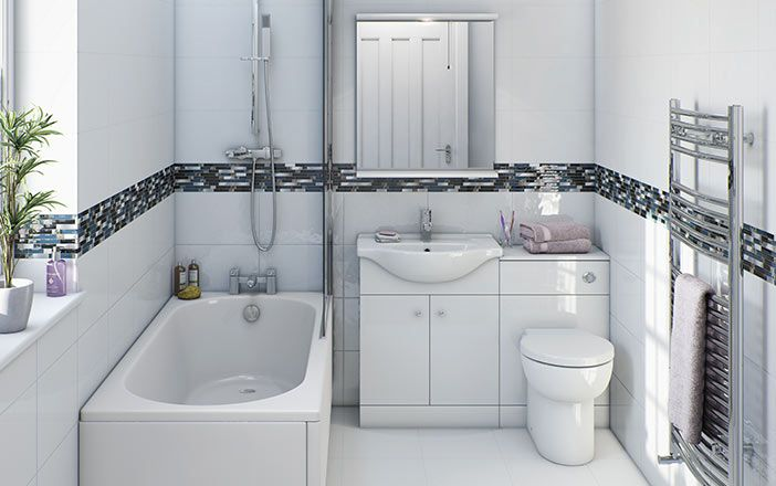 Prague White Floor Standing 55 Unit With Basin Now Only 79 99 From Victoria Plumb Bathroom Design Small White Bathroom Furniture Bathroom Interior Design
