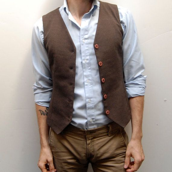 Men dressed like this for a fall inspired wedding? kinda cute and dieffernt from a tux!