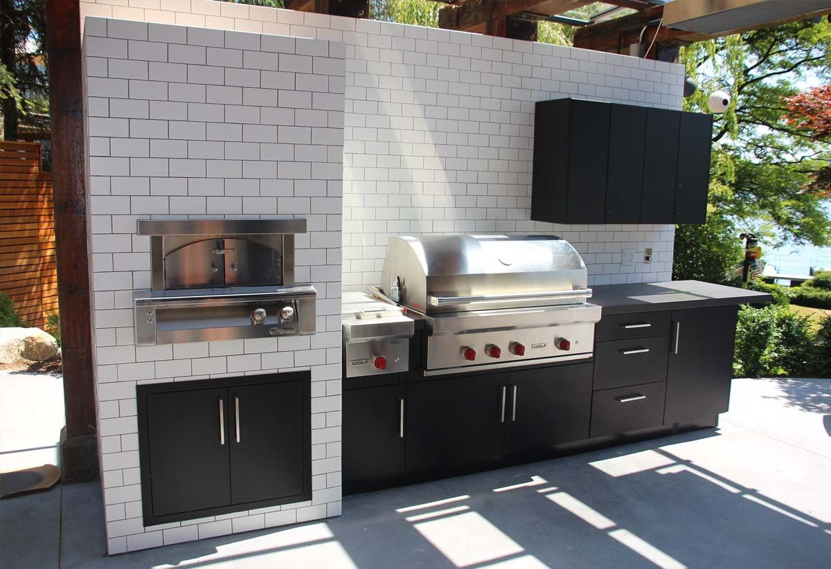 This Is Probably My Favorite In That It S Simple And Clean And Seems Like It Would Allow Kitchen Designs Layout Grey Tile Kitchen Floor Outdoor Kitchen Design