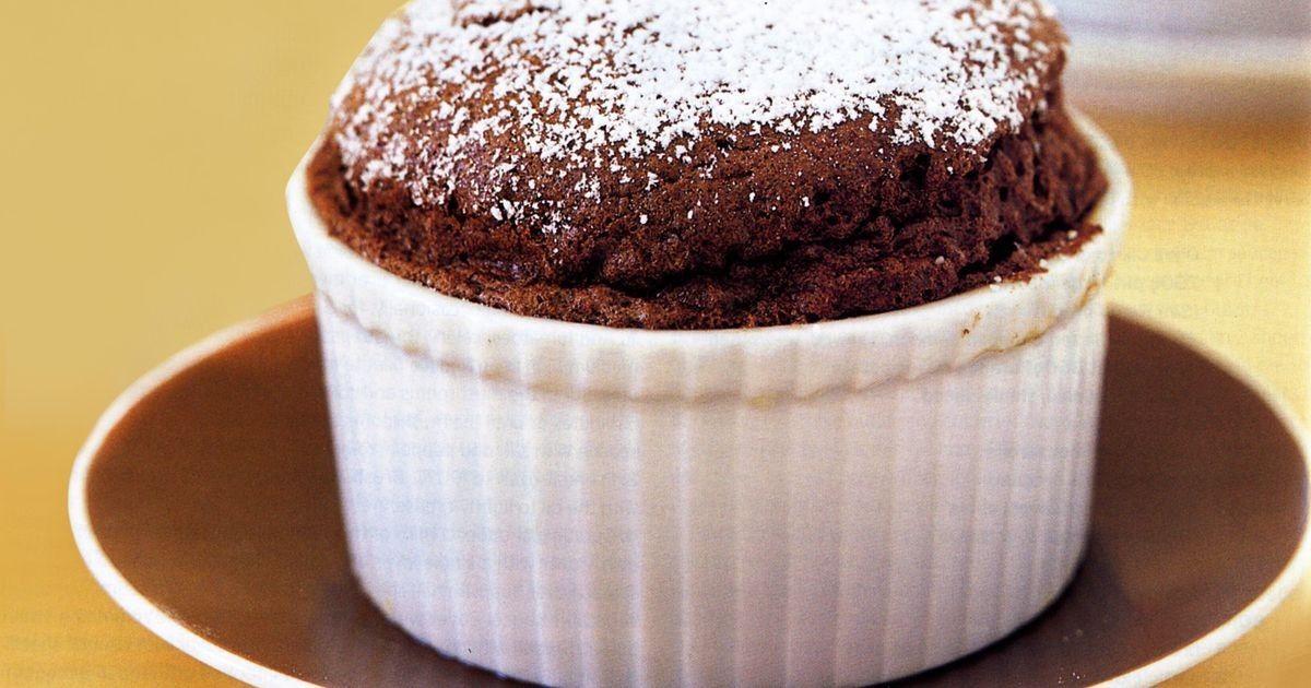 Mini Chocolate Souffles Recipe Food Chocolate Souffle Homemade Chocolate