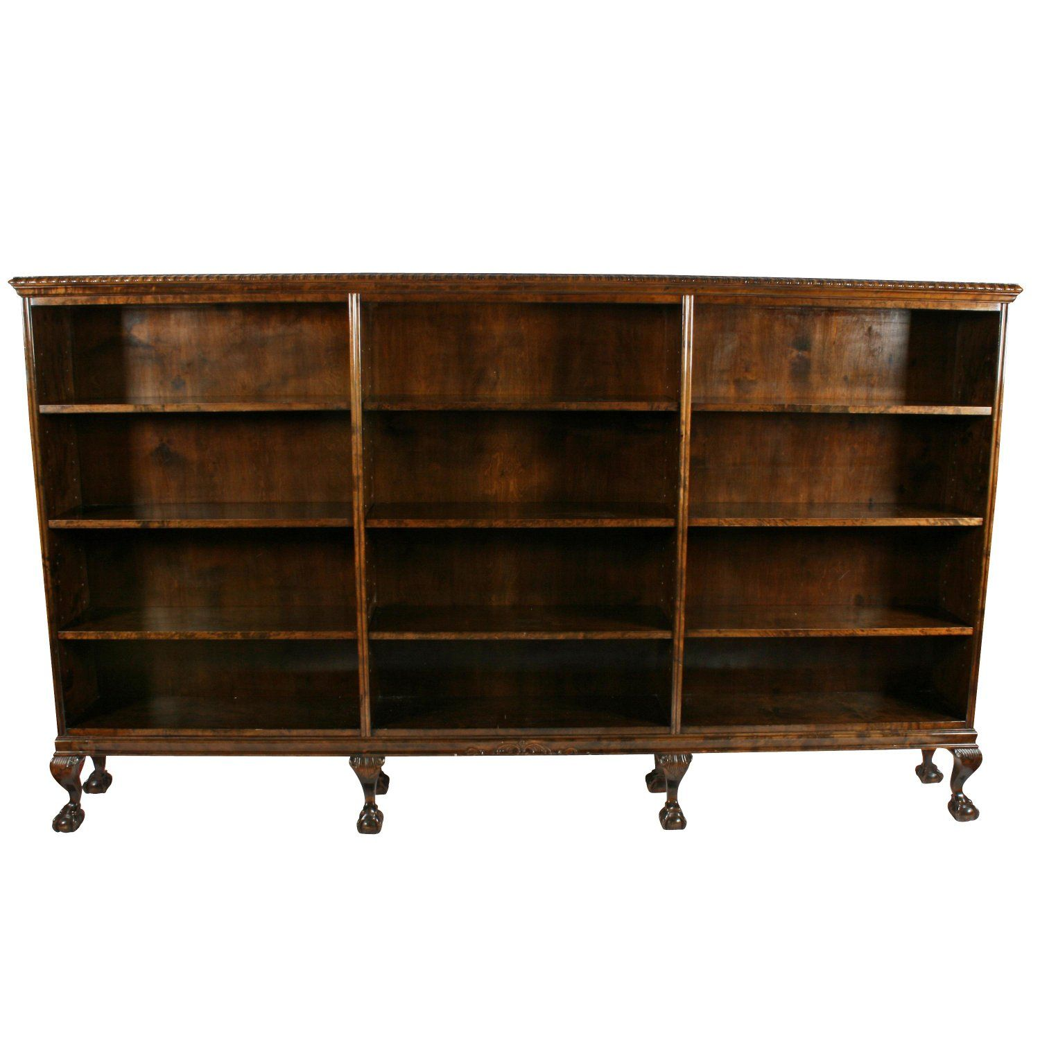 Large Chippendale Style Open Bookcase Vintage Bookcase Open Bookcase Bookcase