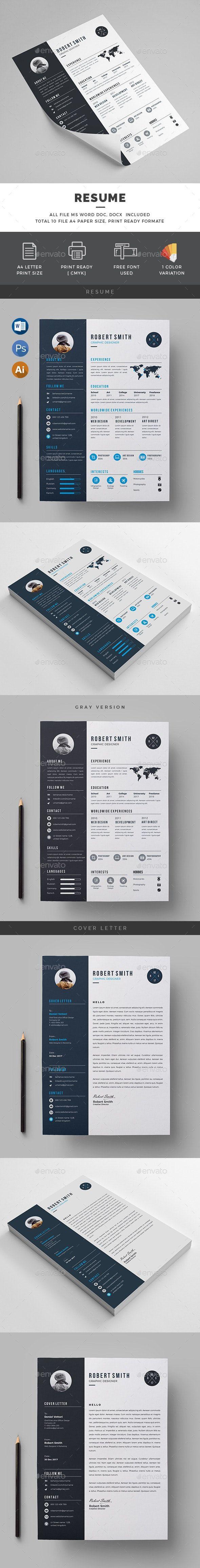 Resume AD Resume Simple resume template, Resume