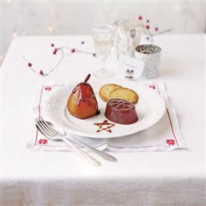 Poached pears with Earl Grey ganache and spiced jellies Recipe | delicious. Magazine free recipes