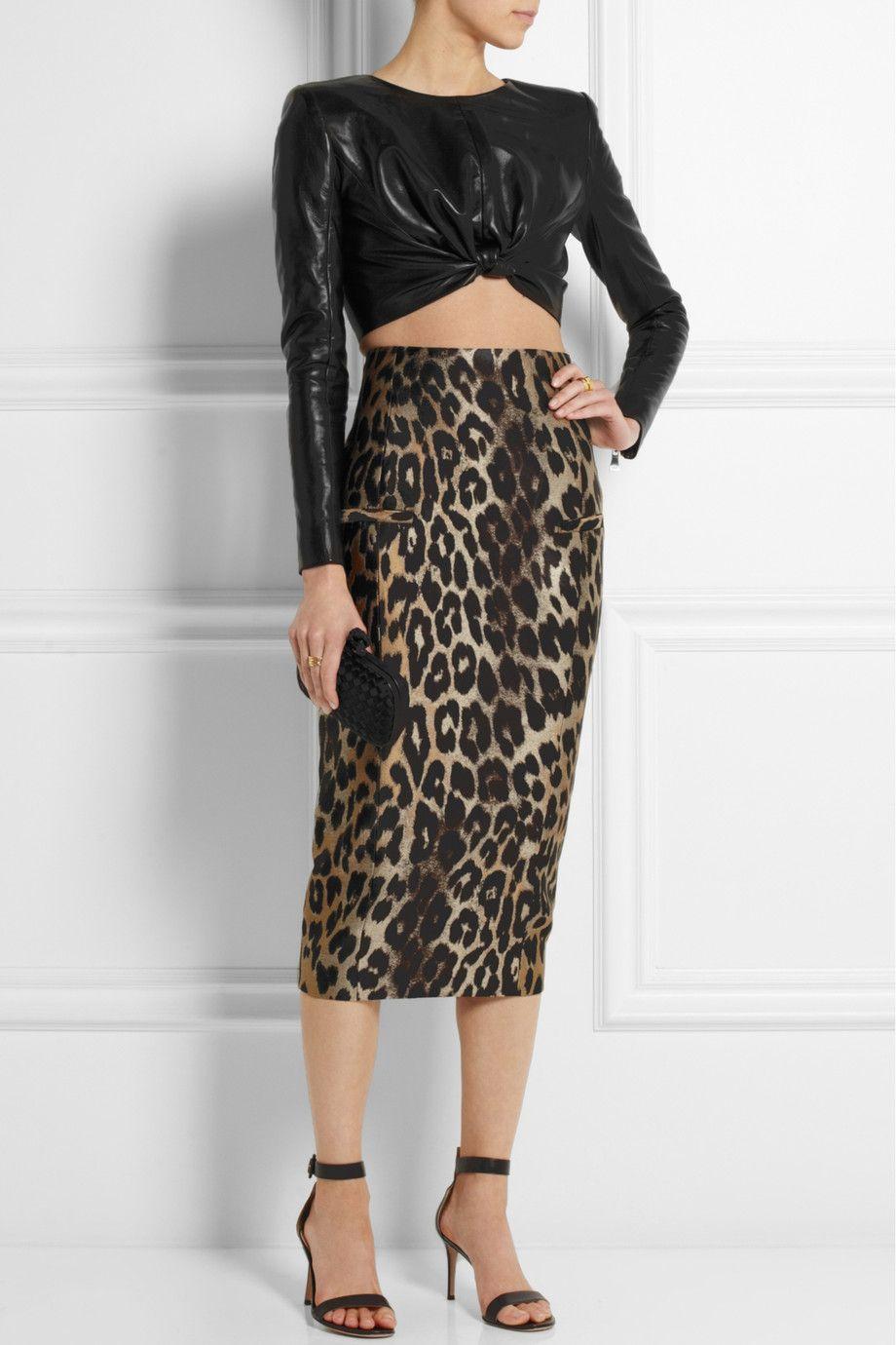 I never met a leopard print I didn't like - Balmain|Leopard-jacquard midi skirt|NET-A-PORTER.COM