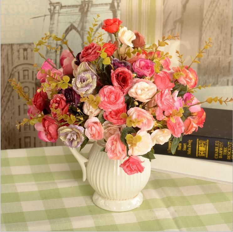 Online cheap artificial flowers high quality persian rose wreath 2017 artificial flowers high quality persian rose wreath party decoration real touch roses rose balls weddings wreath free ship from ginnystore 181 mightylinksfo Gallery