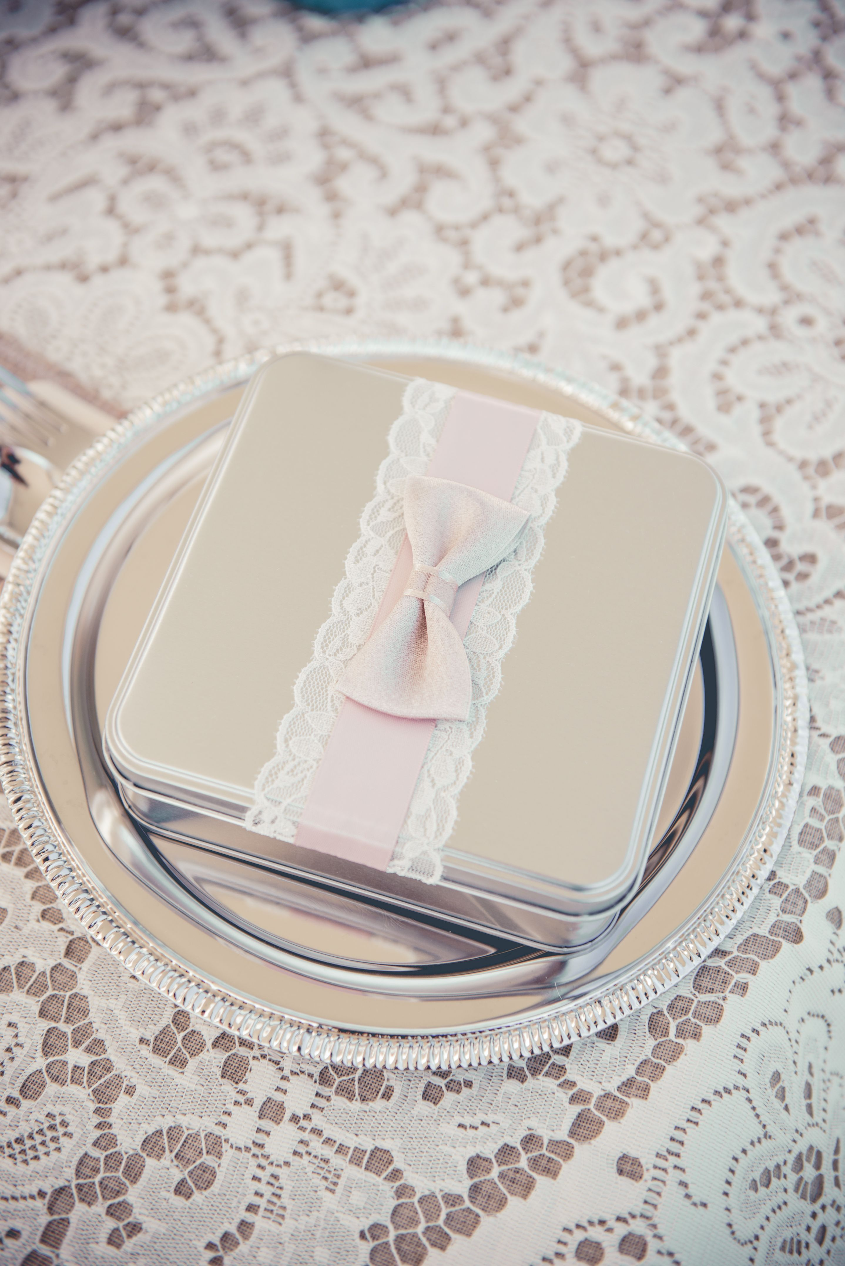 our (dollar store!) plates and wedding favour boxes #rustic wedding ...