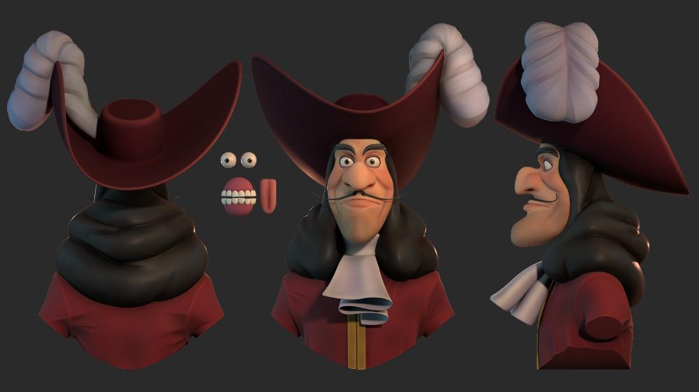 Artstation Captain Hook Nicolas Roy Captain Hook Captain Character Design