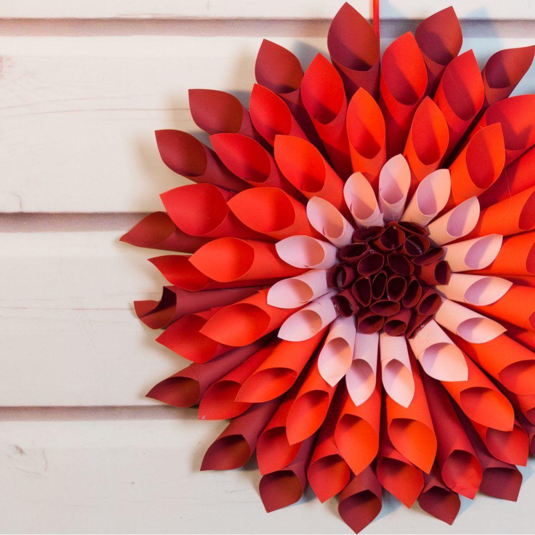 Let S Craft Giant Paper Dahlias Paper Dahlia Paper Flowers Diy