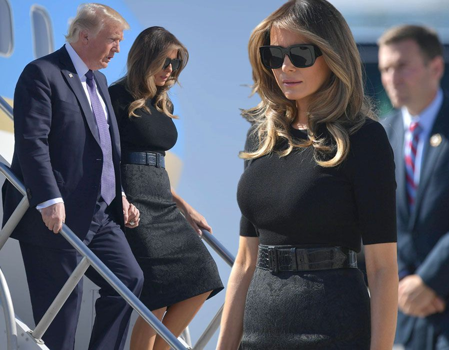 ca151e9b3ee Melania Trump wears skintight SEXY dress to show off impressive bust ...