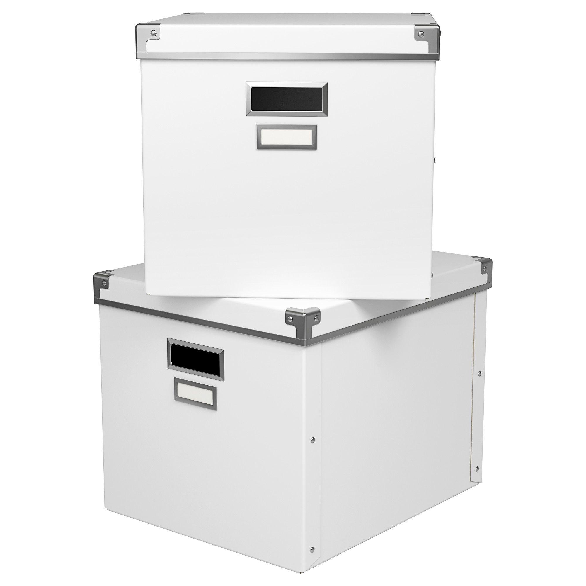 Ikea File Box Kassett Box With Lid White 13x15x11 Ikea  # Mueble Taquilla Ikea