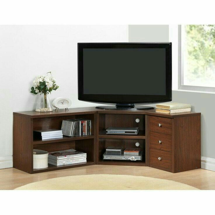 Baxton Studio Modern Tv Loft Corner Unit Stands