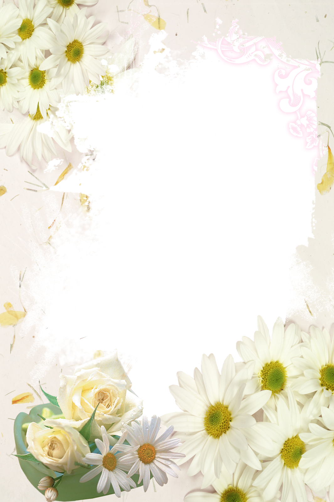 Шаблоны для открыток ромашки
