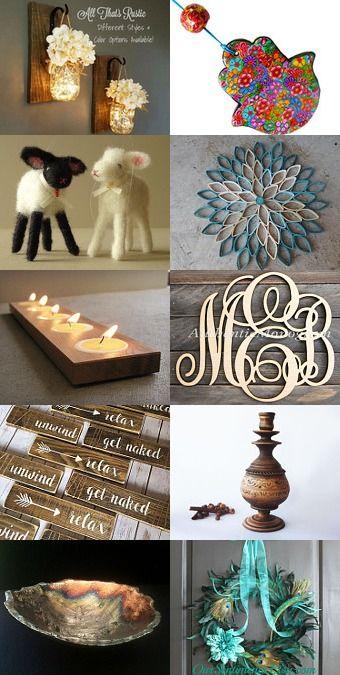 Home Swet Home Handmade Home Decor  #bathroom #gift #hamsa #handmade #candle #holder