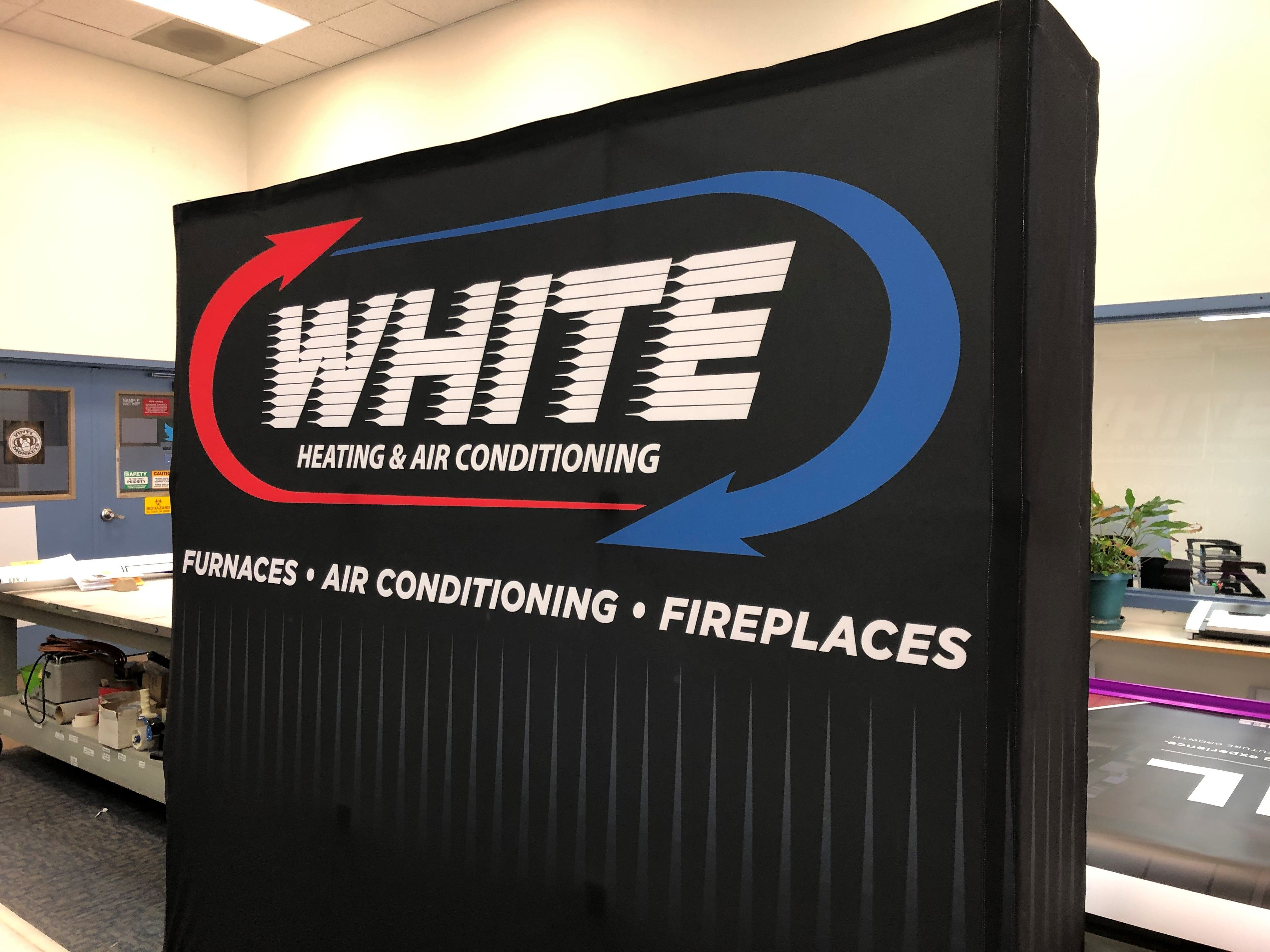 This tradeshow booth for White Heating & Air Conditioning