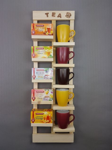 Tee Regal Upcycling Einzigartiges Tee Regal, welches du nach - wandregal für küche