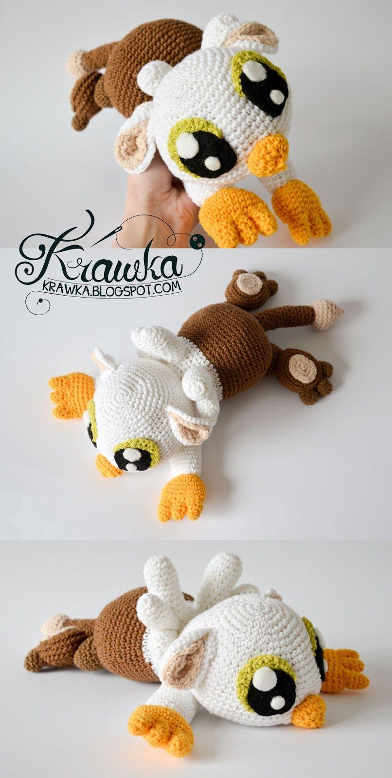Krawka: Baby griffin gryphon crochet pattern by Krawka mythological ...