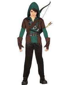Disfraz De Arquero Robin Arrow Para Niño Disfraces Medievales Trajes Para Niños Disfraces Para Chicas