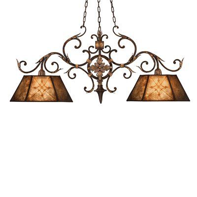 Fine Art Lamps 236840 2 Light Villa MultiLight Island Light This product by Fine Art Lamps comes in a rich umber finish. Works with two 100-watt frosted