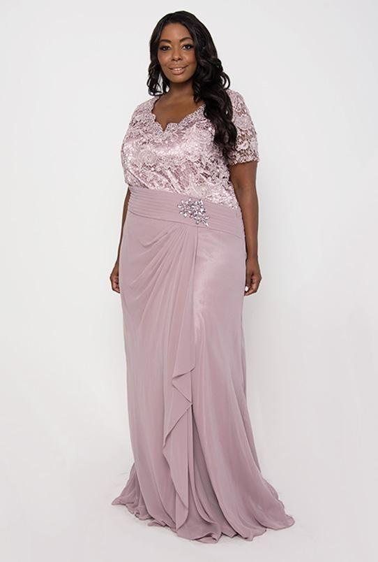 b4802ced1 Long Mother of Bride Dress Plus Size Formal Evening Gown   DressOutlet - The  Dress Outlet