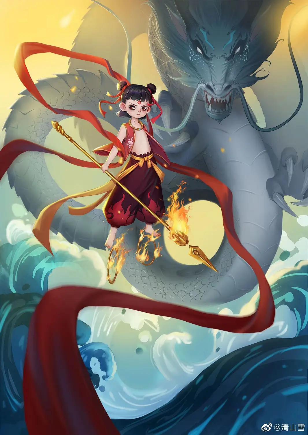 NeZha, Chinese Animation Anime, Picture mix, Animation