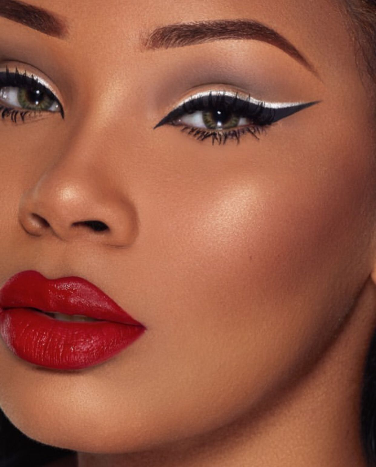 Aaliyah Jay Makeup promo Black girl makeup, Red lips