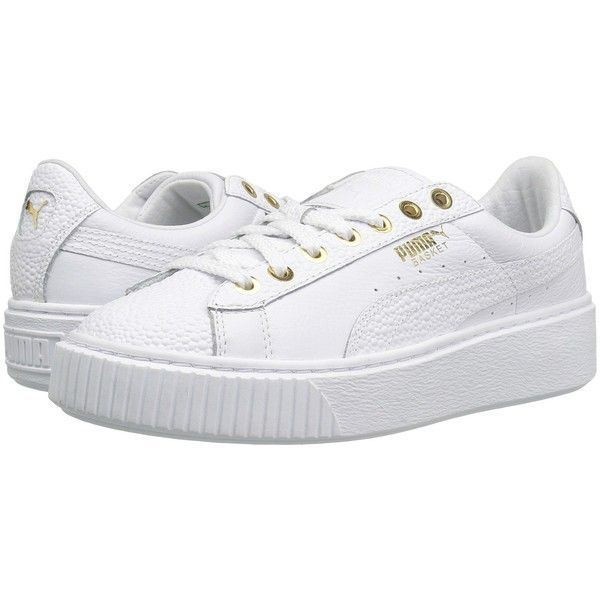 PUMA Basket Platform Pearlized Puma WhitePuma Team Gold Womens